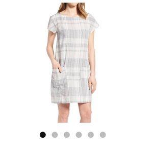 Eileen Fisher Organic Linen & Cotton Plaid Dress
